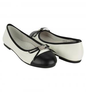 Туфли , цвет: белый/черный Парижская Коммуна