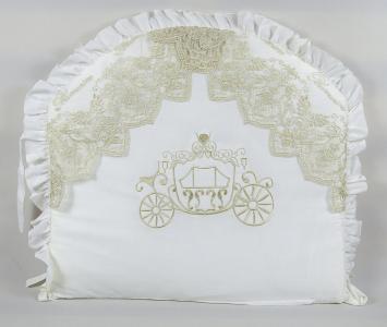Комплект постельного белья  Lux 1822, цвет: белый 8 предметов бант 26 х 24 28 см Tizo