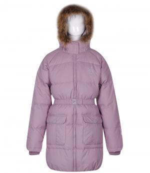 Пальто Nels. Цвет: фиолетовый