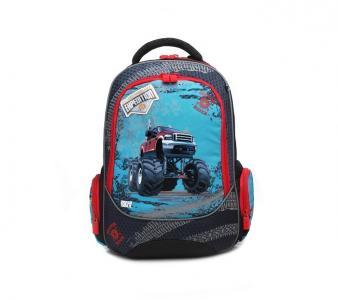 Рюкзак школьный эргономическая спинка Машина 4all