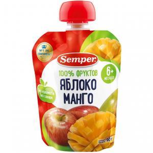 Пюре  яблоко-манго с 6 месяцев, 90 г Semper