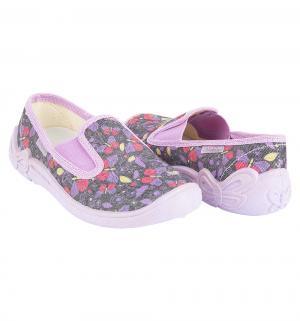 Полуботинки текстильные , цвет: фиолетовый El Tempo