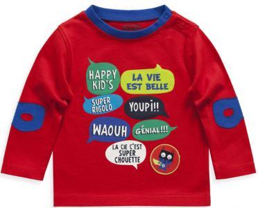 Лонгслив La Compagnie des Petits. Цвет: красный