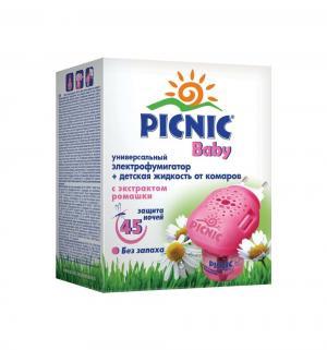 Комплект от комаров  Baby (жидкость 45 ночей+электрофумигатор) Picnic