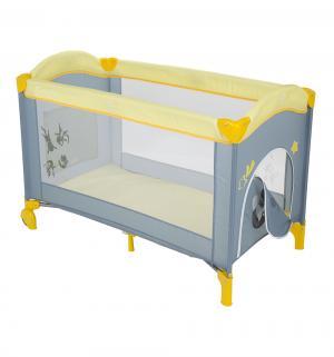 Манеж  Sweet Time Cosmocats (B), цвет: желтый/серый Capella