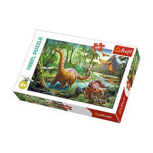 Пазл Treft Midi  Странствующие динозавры, 60 элементов Trefl