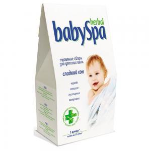 Травяной сбор  Сладкий сон, с рождения, 45 г Herbal Baby Spa
