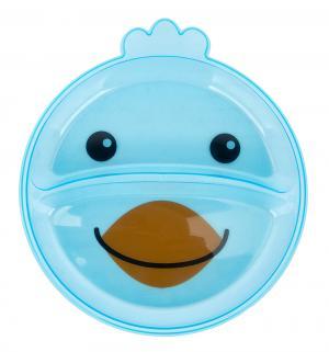Тарелка  Animals Забавные животные, цвет: синий Canpol
