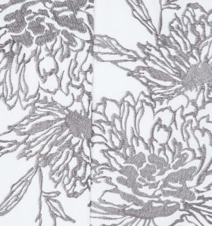 Комплект постельного белья  Евро/нав. 70х70 Элегия, цвет: белый/серый Василиса