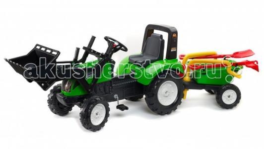 Трактор-экскаватор  педальный с прицепом 204 см Falk