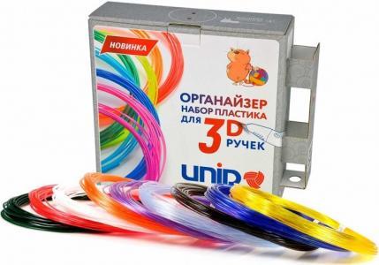Комплект пластика PRO для 3Д ручек -9 цветов в органайзере Unid