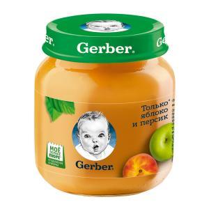 Пюре  только яблоко-персик, с 5 месяцев, 130 г Gerber