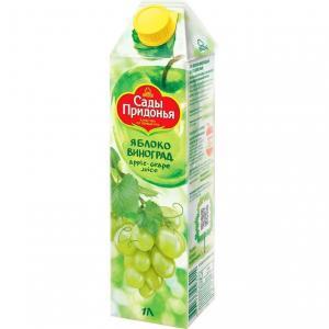 Сок  яблоко-виноград, 1 л Сады Придонья