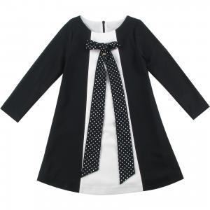 Платье для девочки Wojcik. Цвет: черный