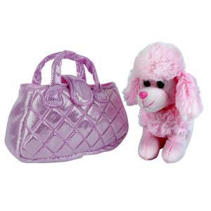 , Собака в сумочке, пудель, розовый, 19см My Friends