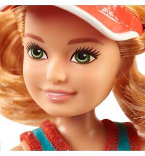 Игровой набор  Сестры и щенки блондинка, бирюзовый топ, белые шорты Barbie