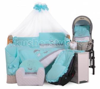 Комплект в кроватку  Family (6 предметов) Tuttolina