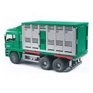 Фургон MAN для перевозки животных с коровой Bruder