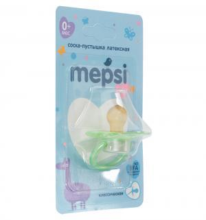 Соска-пустышка  Классическая латекс, с рождения, цвет: зеленый Mepsi