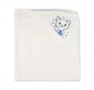 Пеленка-полотенце махровая Котенок 95х95 см Лео
