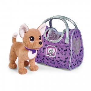 Мягкая игрушка  Chi Love Собачка-путешественница с сумкой-переноской, 20 см Simba