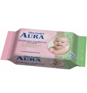 Влажные салфетки  Ultra Comfort, 100 шт Aura