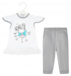 Комплект футболка/бриджи  Magiczna wrozka, цвет: белый Koala