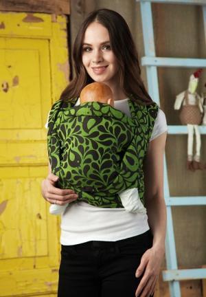 Mums Era Слинг-шарф, цвет: зеленый/черный Mum's