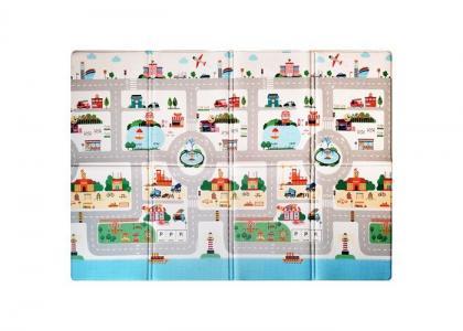 Игровой коврик  Soft Travel (книжка) 190х130х1 см Mambobaby