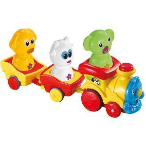 Музыкальный паровоз  с животными Bebelino. Цвет: разноцветный