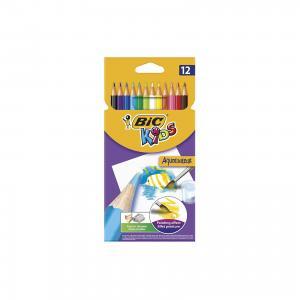 Карандаши цветные акварельные Bic Aquacouleur, 12 цветов