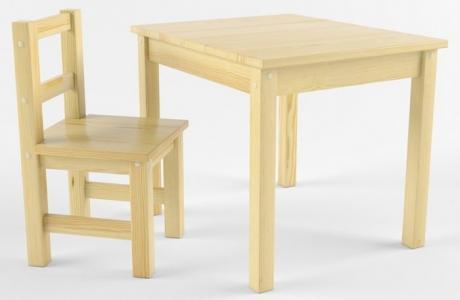Русские-Игрушки Набор детской мебели (стол, стул) деревянный не окрашен Русские игрушки