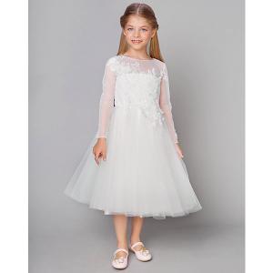Нарядное платье Choupette. Цвет: белый