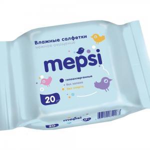 Влажные салфетки , 20 шт Mepsi