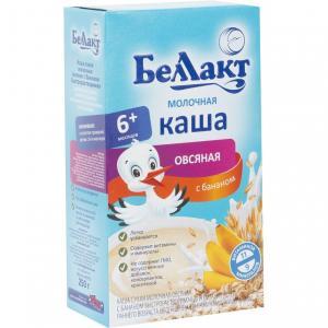 Каша  молочная овсяная с бананом 6 месяцев 250 г Беллакт
