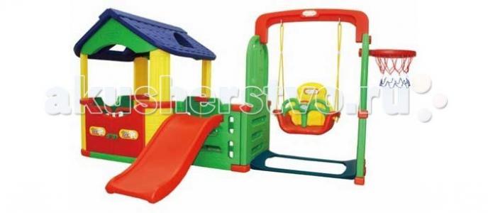 Детский игровой комплекс для дома и улицы Мульти-Хаус JM-804В Happy Box