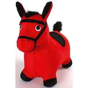 Лошадка-попрыгунчик , красная Shantou Gepai. Цвет: красный