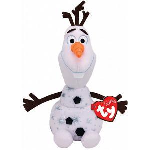 Мягкая игрушка TY Снеговик Олаф, 15 см. Цвет: белый