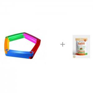 Пластиковая песочница из 5-ти элементов и Песок для песочниц Mixplant Емеля 14 кг 2Kids
