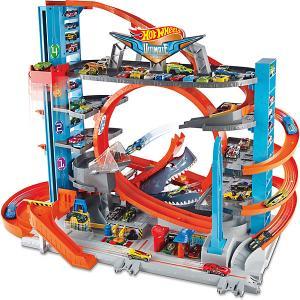 Автотрек Hot Wheels Сити Невообразимый гараж Mattel