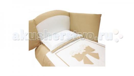 Комплект в кроватку  Бантик длинный борт (7 предметов) Andy & Helen