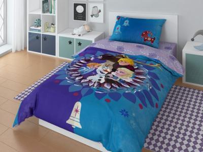 Постельное белье  1.5 спальное Olaf family наволочка 70х70 (3 предмета) Disney