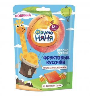 Пюре  с кусочками яблоко-персик 12 месяцев, 53 г, 1 шт ФрутоНяня