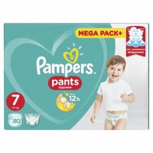 Трусики Pants р.7 (17+ кг) 80 шт. Pampers