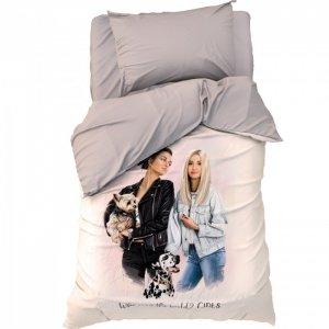 Постельное белье  1.5 спальное Cool girls (3 предмета) Этель