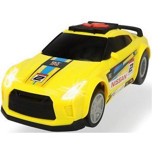 Машинка  Рейсинговый автомобиль Nissan GTR, 25,5 см, свет и звук Dickie Toys. Цвет: желтый