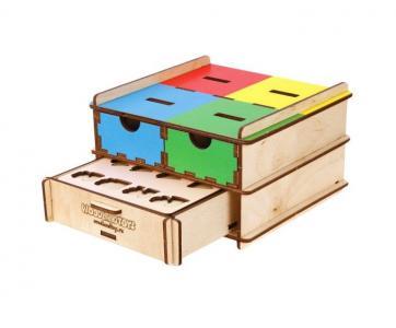 Деревянная игрушка  Комодик-плоский Транспорт Woodland