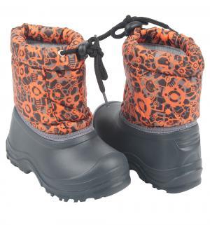 Сноубутсы , цвет: оранжевый/черный Прыг-Скок