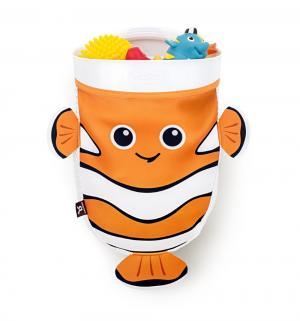 Органайзер для ванны  Рыбка, цвет: черный/оранжевый/белый BenBat