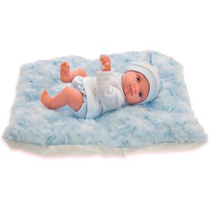 Кукла-пупс  Пепито на голубом одеялке, 21 см Munecas Antonio Juan. Цвет: синий